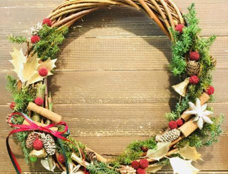 【お知らせ】12休日ワークショップはクリスマスリース作り